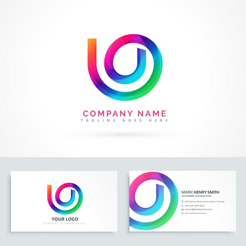abstract logo design concept