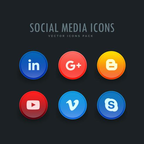 standaard pakket met social media-pictogrammen