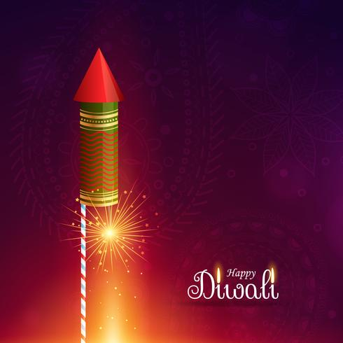 diwali cracket rocket with sparkle