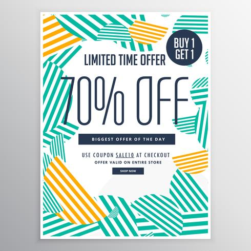 modern trendy sale promotional discount brochure template with a