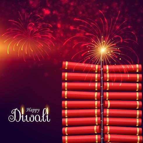éclatement de la bombe de cracker pour le joyeux festival de diwali