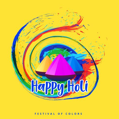 abstract happy holi festival greeting