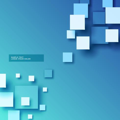 abstract blue background with 3d squares effect