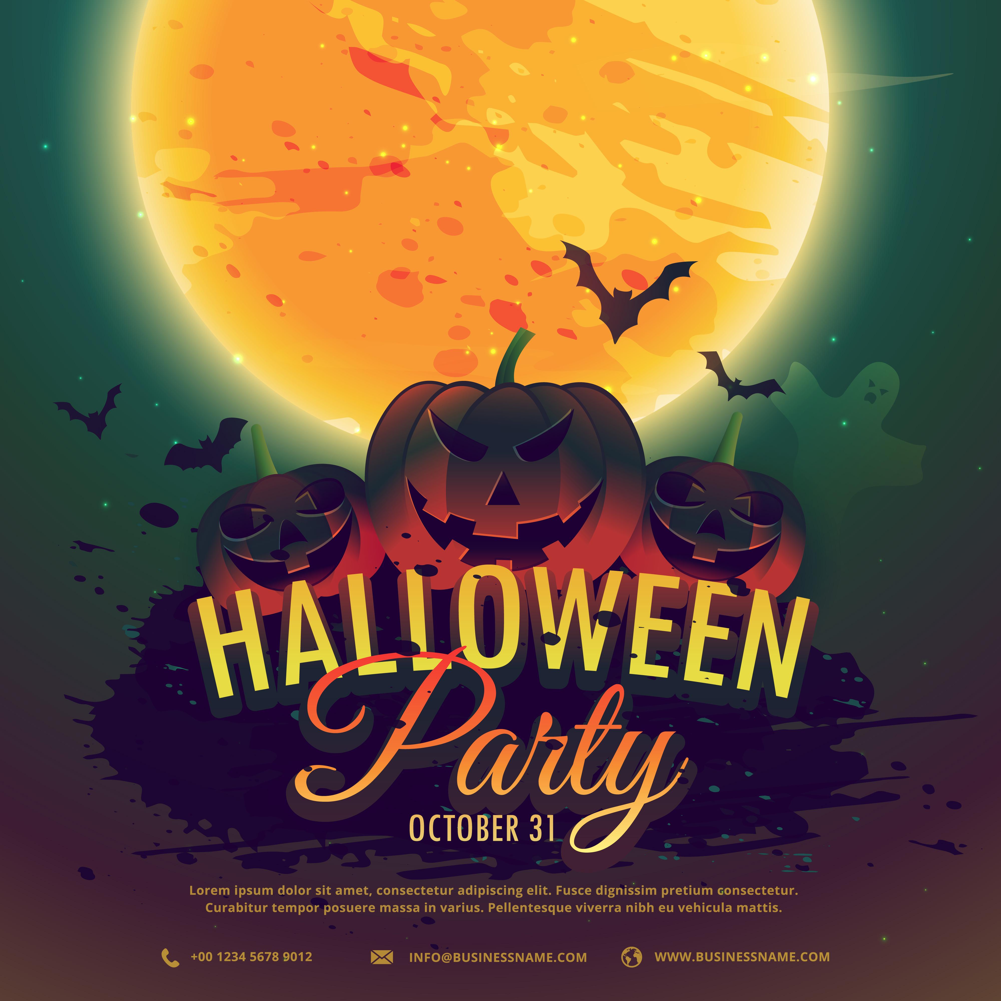 halloween party invitation background
