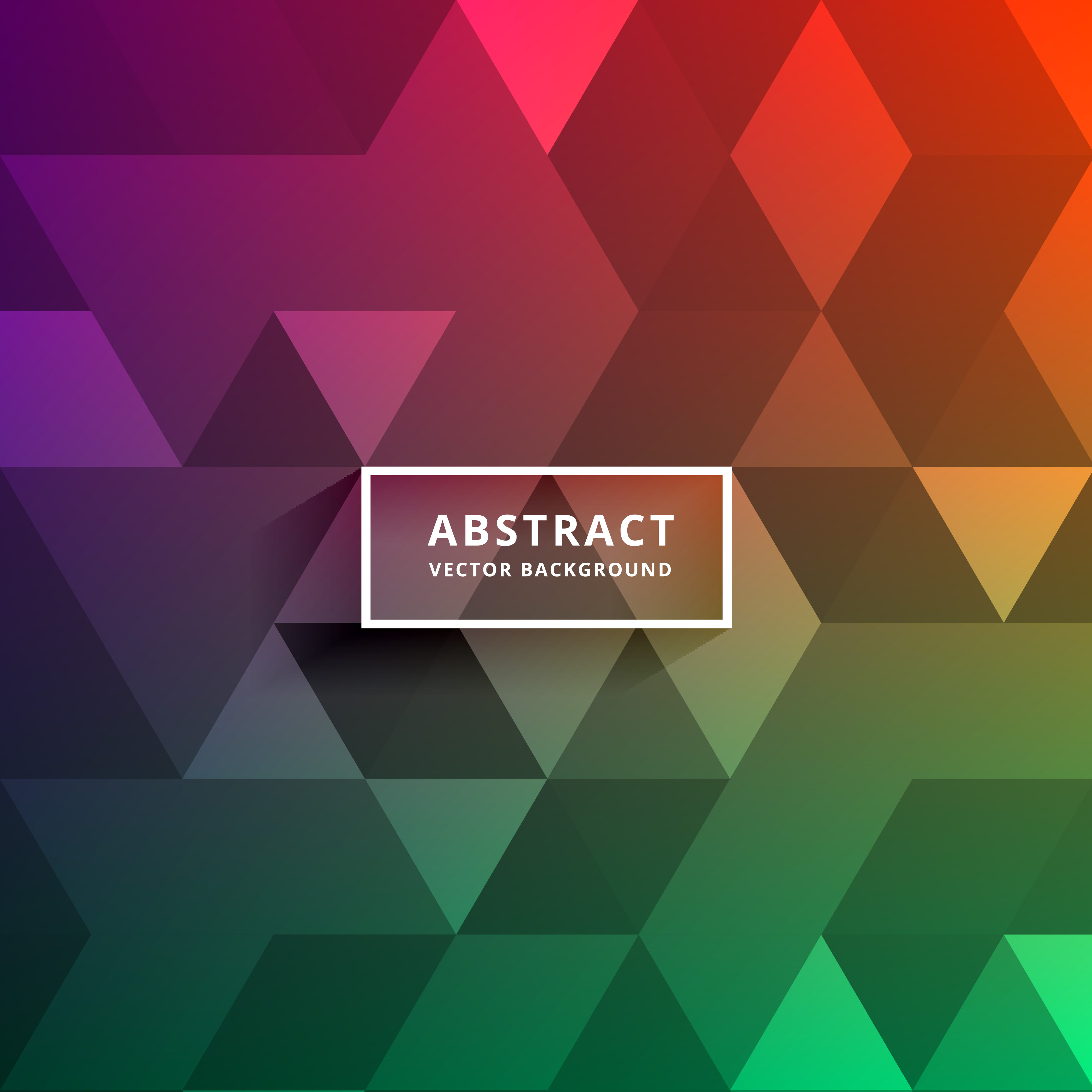 colorful triangle shapes pattern design background