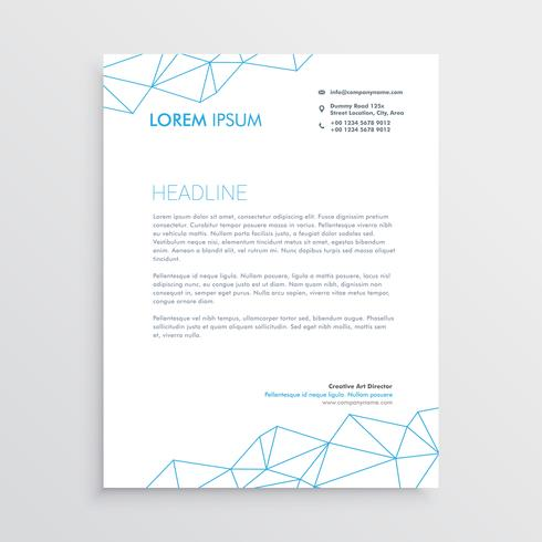 minimal letterhead design template with lines array