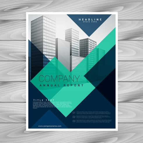 Blue Geometric Company Brochure Template Design  Download Free