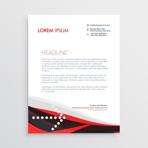 modern red black letterhead design