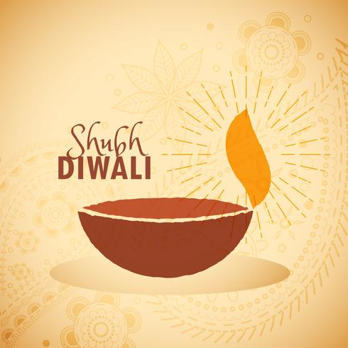 shubh diwali festival greeting card