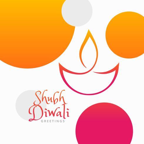 Bunter Hintergrund des modernen Diwali Festivals