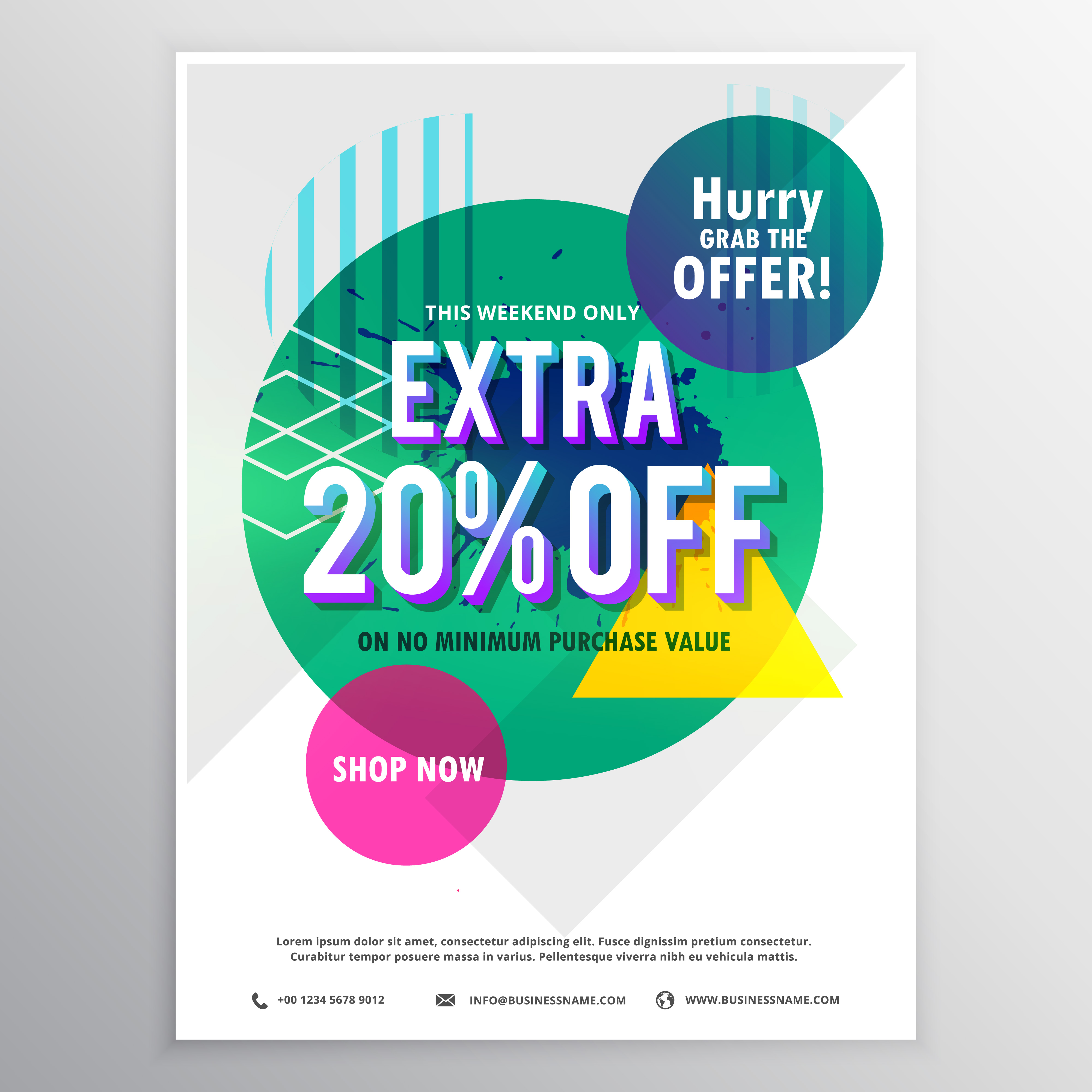 Modern Promotional Flyer Template With Discount And Offer With A