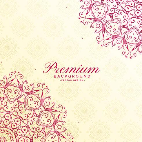 awesome mandala decoration premium background