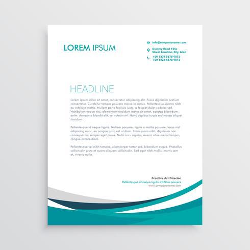 kreative blaue Welle Geschäft Briefkopf Design