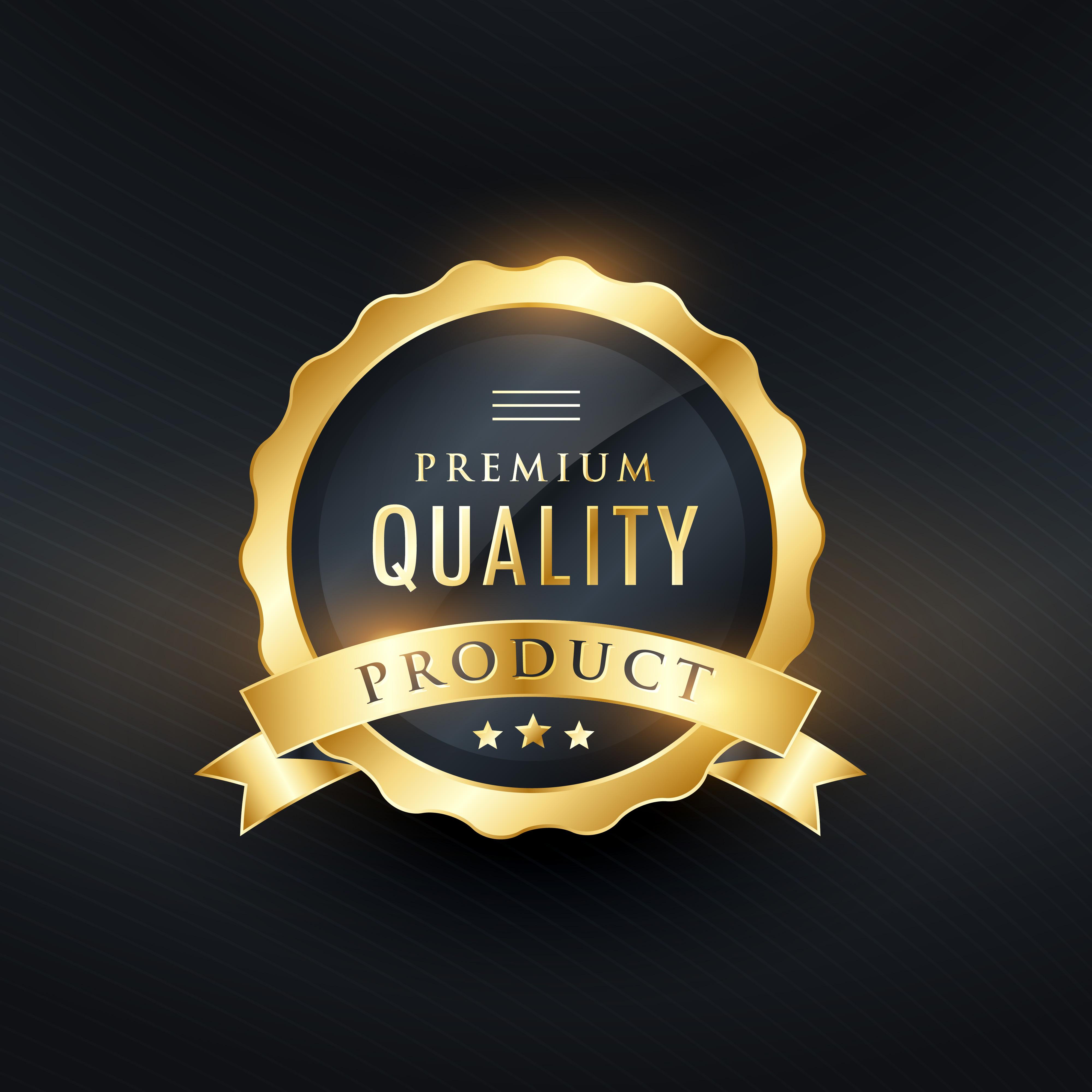 premium quality product golden label design - Download ...