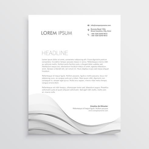 clean letterhead vector design template