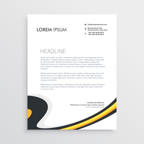 clean modern business letterhead template design
