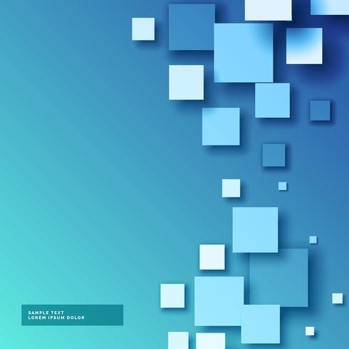 Diseño de fondo azul mosaico cuadrados 3d