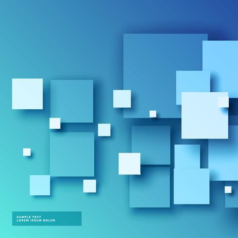 blauer Hintergrund der Quadrate 3d
