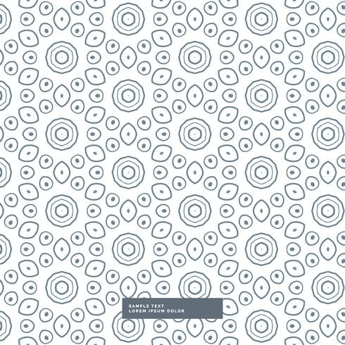 abstract line flower pattern background