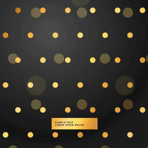 black background with golden polka dots