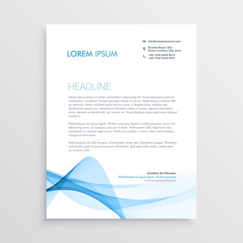 stylish blue vector letterhead design