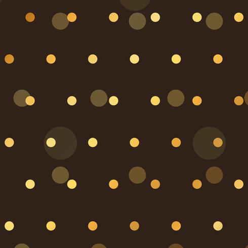brown background with golden polka style dots