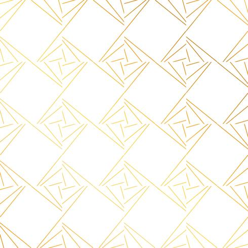 geometric golden pattern background vector