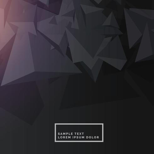 fundo preto com formas poligonais abstratas