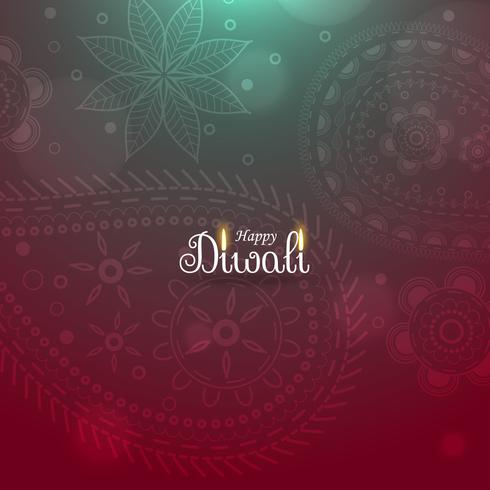 awesome diwali diya background with paisley pattern