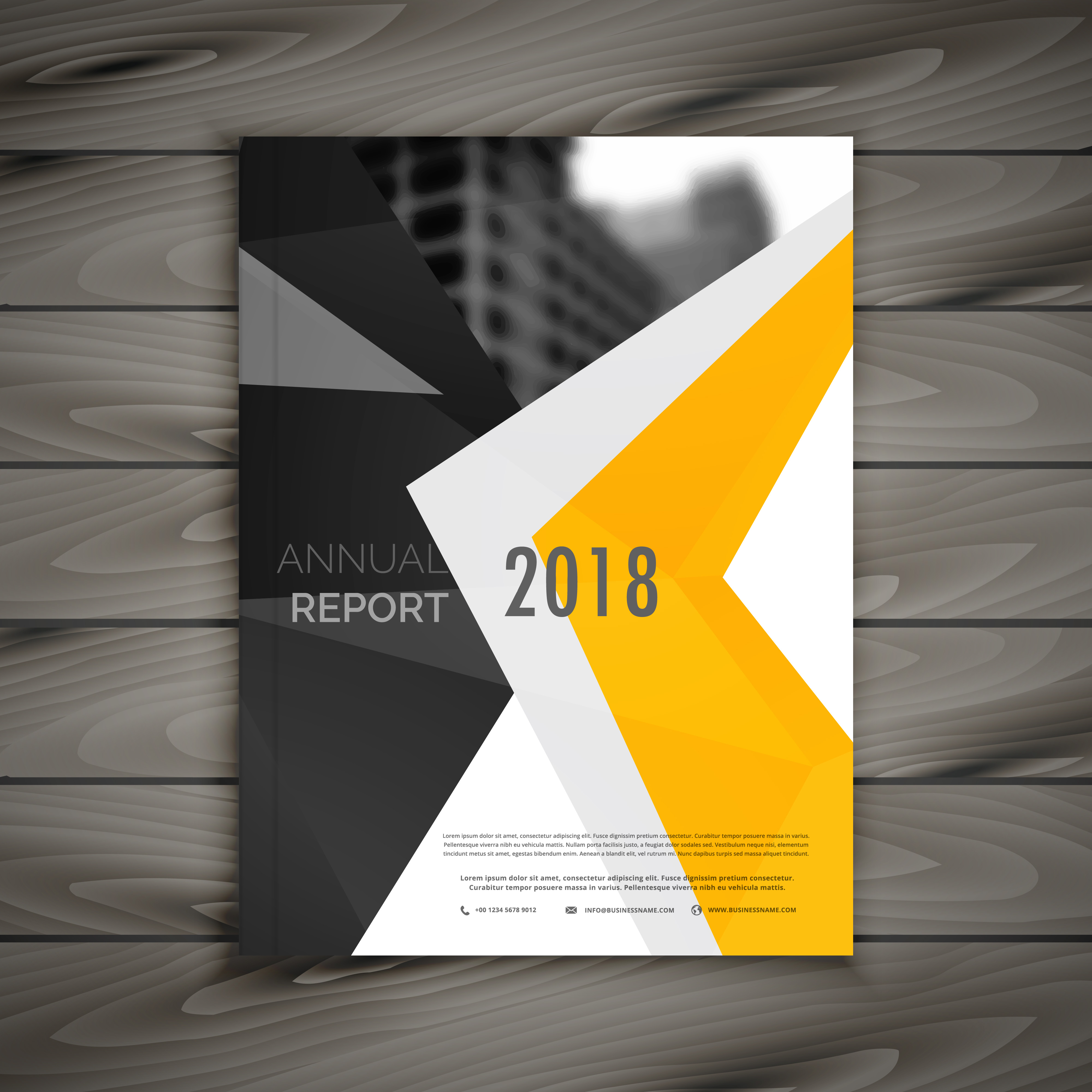 Abstract Business Brochure Template Annual Report Cover