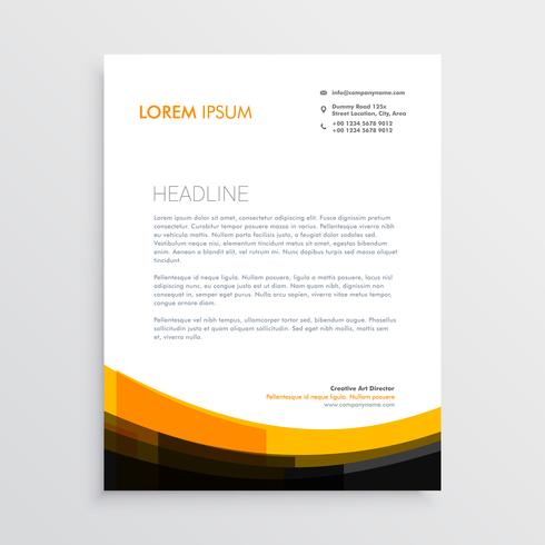 elegant orange black letterhead design
