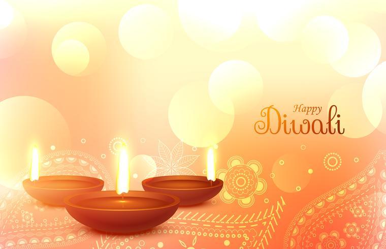 beau papier peint de diwali avec l'art de paisley
