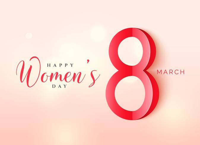 International women's day poster design in origami style with be