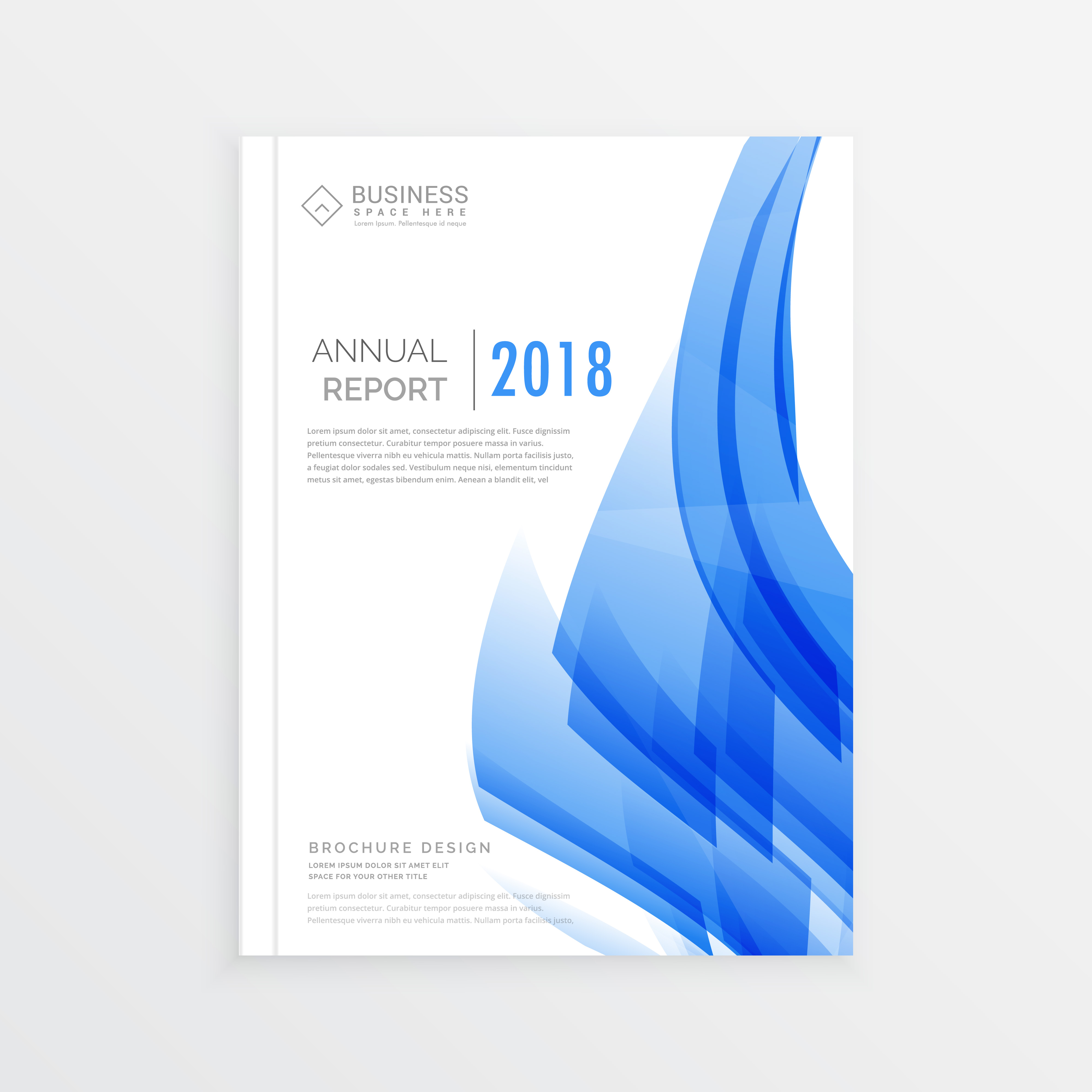 business annual report cover page template in a4 print
