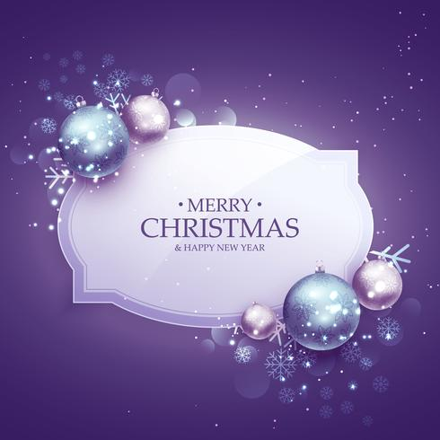 beautiful merry christmas decoration background in purple shade