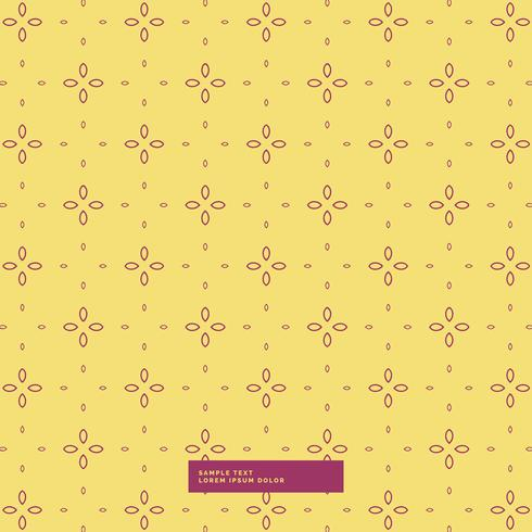 yellow background with simple flower pattern