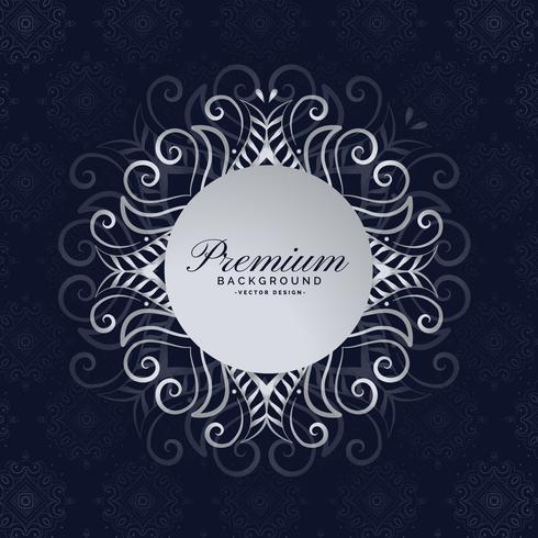 stylish premium mandala frame floral background design