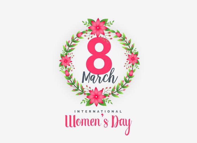 cute 8th march happy women's day background