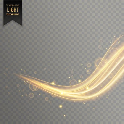 elegant gold color transparent light effect
