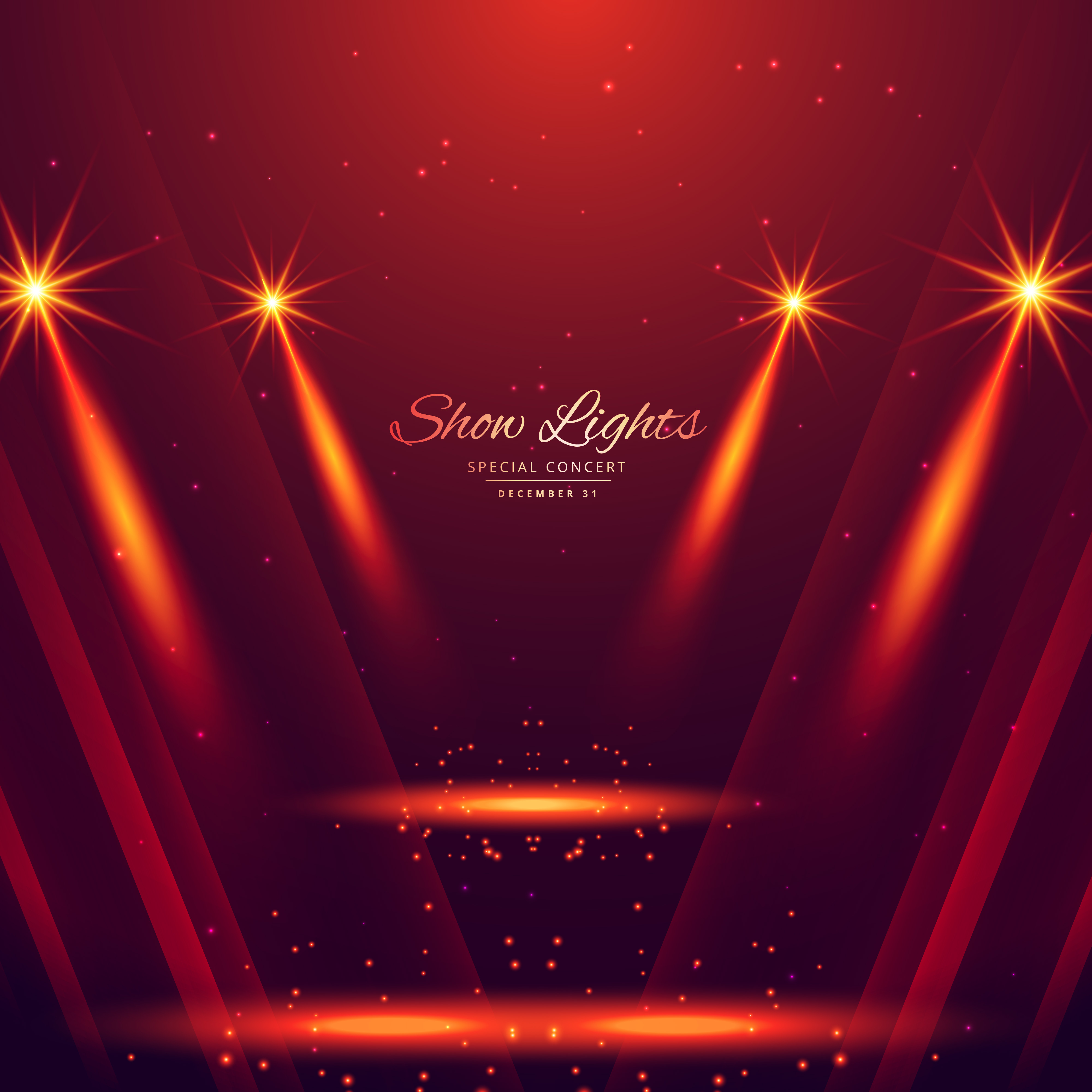 Spot Lights On Red Background Download Free Vector Art