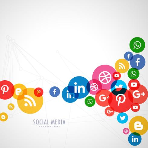 social media logo background download free vector art stock