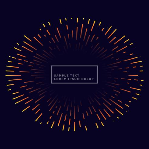 lines firework backgorund vector design