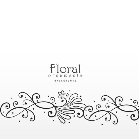beautiful floral design elemant