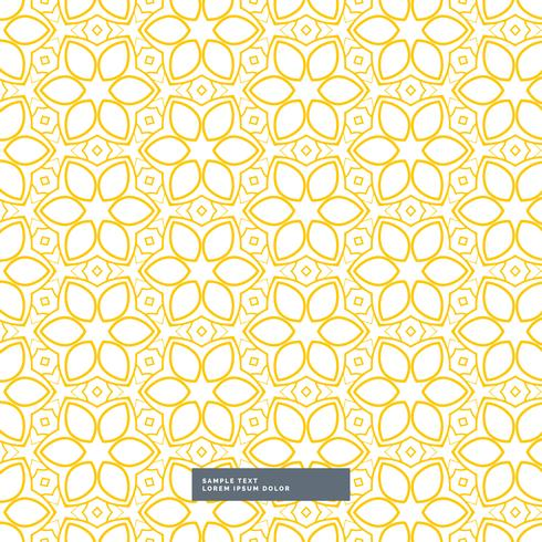 cute yellow flower pattern on white background