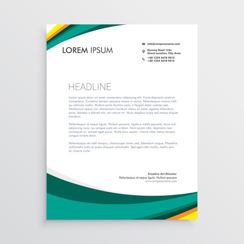 green visual identity letterhead design template