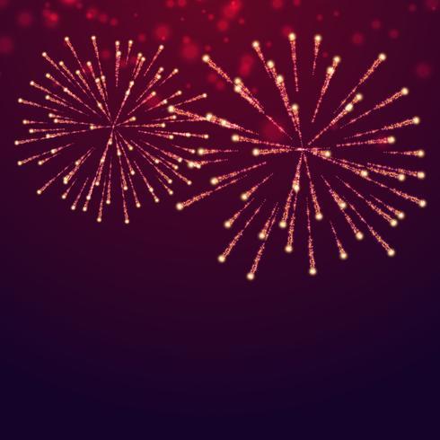 hermosa exhibición de fuegos artificiales
