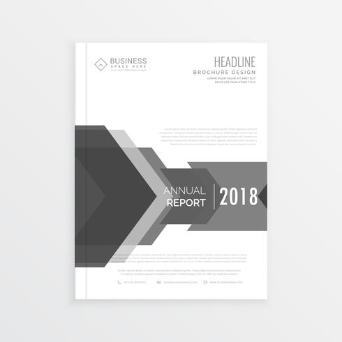 clean business brochure design template in gray color