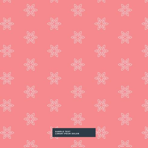 cute simple flower pattern background