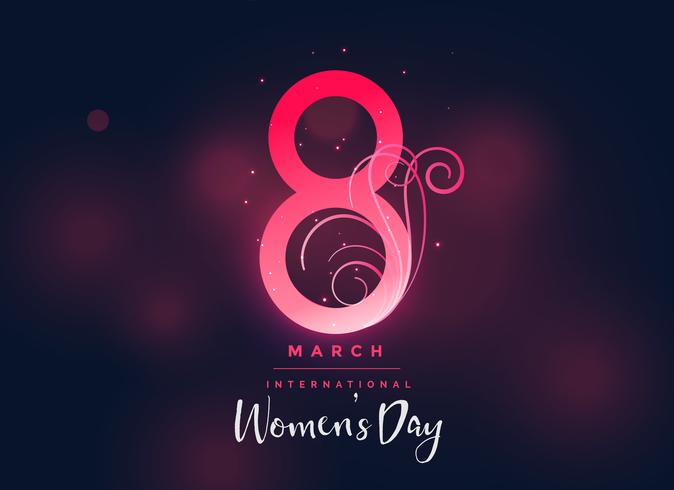 happy women's day dark beautiful background