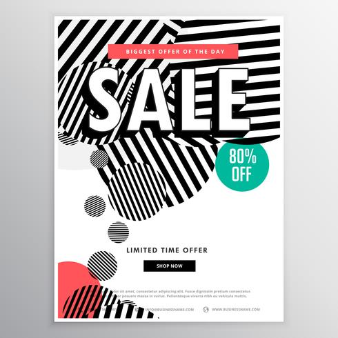 amazing sale brochure template with abstract circles lines shape
